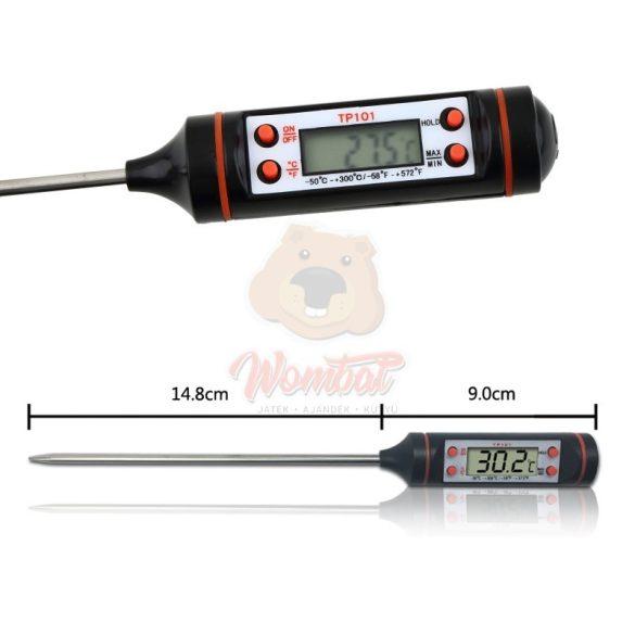 Digitális konyhai maghőmérő -50től +300°C-ig