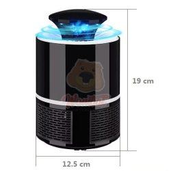 Design beltéri elektromos szúnyogirtó rovarcsapda - Fekete