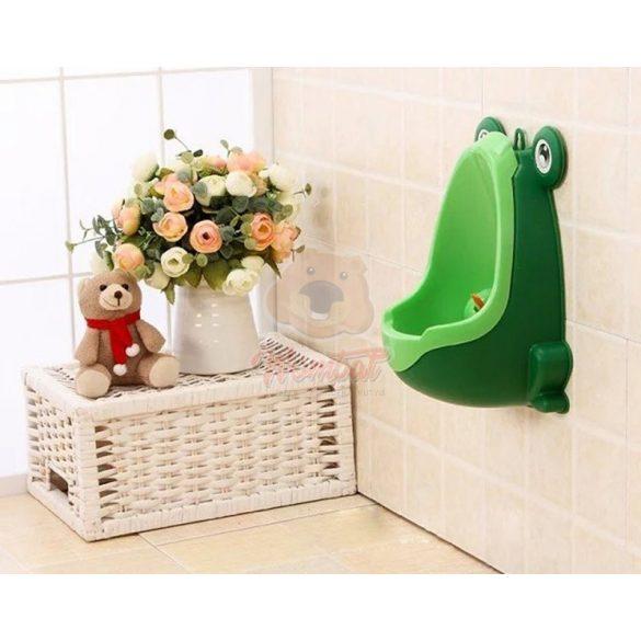 Falra szerelhető, könnyen üríthető gyerek piszoár zöld