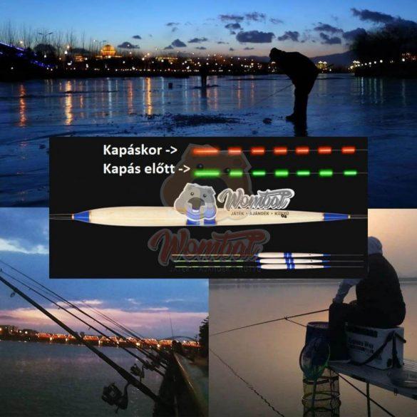 Okos kapásjelző, éjszakai úszó horgászoknak