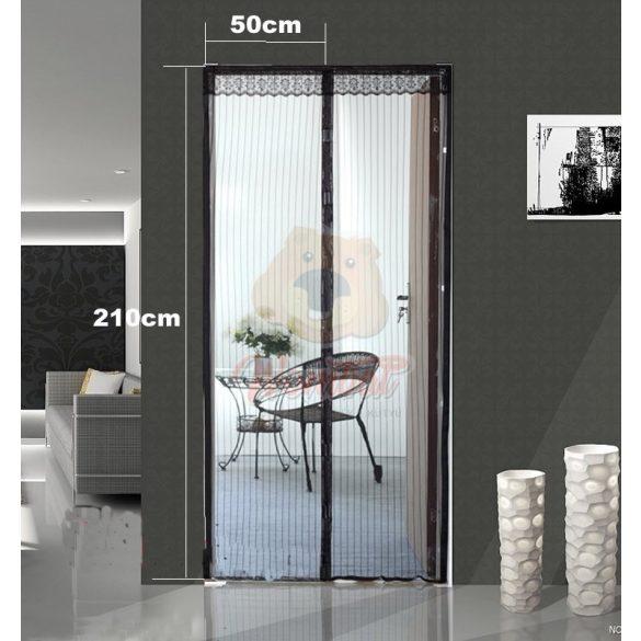 Mágneses szúnyogháló bejárati ajtóra, fekete 210x100