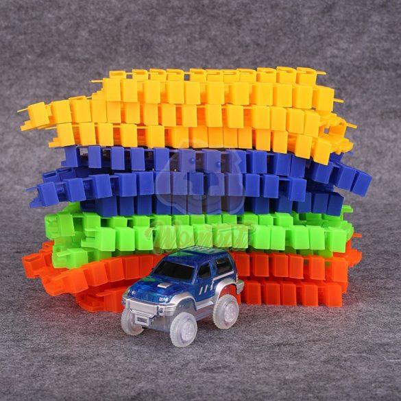 Magic Race autópálya LED-es kisautóval, variálható pályával