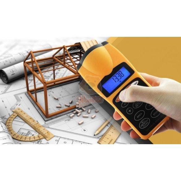 Digitális Ultrahangos távolságmérő, lézerponttal