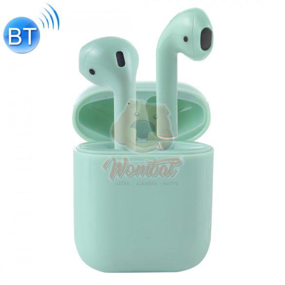I7S bluetooth fülhallgató - zöld