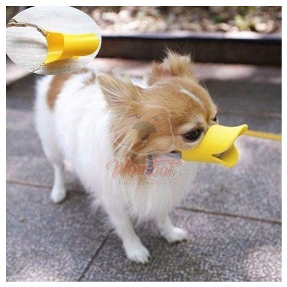 Kutya Kacsa Pofa szájkosár (S-es) -Vicces szájkosár kis kedvencednek, biztonság és jókedv garantáltan.